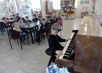 Salonek dětských adamovských výtvarníků 2018 - malí návštěvníci