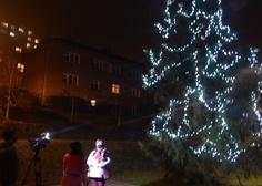 27. 11. 2020 jsme v Adamově rozsvítili vánoční strom